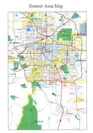 Lone Tree Colorado Map by Metro Denver Area Map