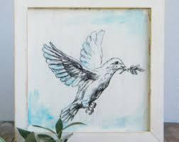 white dove print etsy