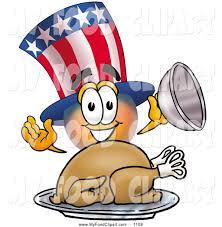 thanksgiving turkey art food clip art of a patriotic uncle sam mascot cartoon character