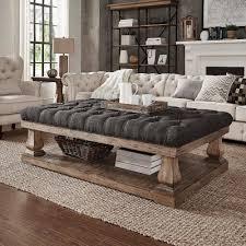 Baluster Coffee Table Homesullivan Segovia Dark Grey Pillowtop Coffee Table Dark Grey
