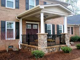 Front Porch Column Covers by Exterior Top Notch Decorating Ideas Using Black Rattan Armchairs