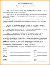 5 business partnership agreement memo templates
