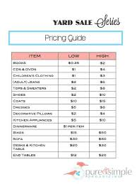 Organizing A Garage Sale - garage recommended garage sale pricing ideas garage sale pricing