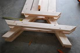 Free Wood Picnic Bench Plans by Child U0027s Picnic Table Plans Free The Playful Kids Picnic Table