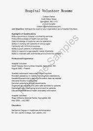 hospital resume exles gallery of resume sles hospital volunteer resume sle