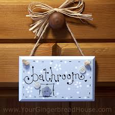 themed signs your gingerbread house bathroom signs handmade wooden signs