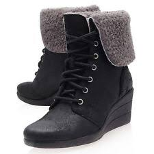 s ugg australia black zea boots ugg australia suede wedge booties for ebay