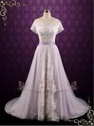 fairy tale wedding dresses purple violet lace fairy tale wedding wedding dress hayley