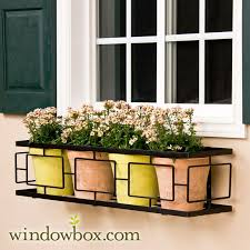 Window Boxes Planters by Contemporary Window Box Cage 72 Inches With A Square Design