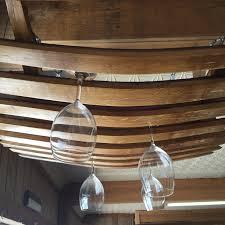 barrel stave hanging wine glass rack u2013 live oak wine decor