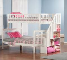 Staircase Bunk Beds Twin Over Full by White Twin Over Full Bunk Bed Essential Home Black Twin Over Full