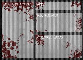 reference template creepypasta oc reference base by invaderika on