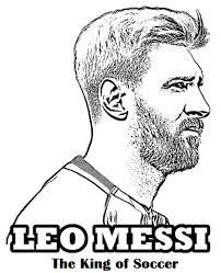Lionel Messi Coloring Sheets Coloring Pages Soccer Coloring Page