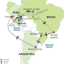 Peru South America Map by 22 Nights Ultimate South America With Brazils Amazon Fox World