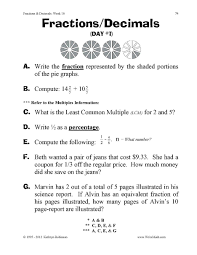 worksheet how to a fraction into decimal wosenly free converting