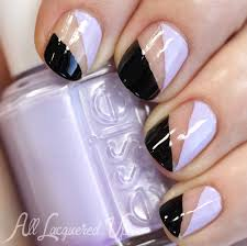 nail art tutorial essie negative space nail art from nyfw all