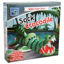 make your own sock crocodile by craft for kids u2013 daves deals