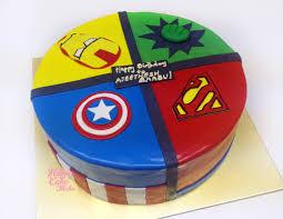 superheroes cake iron man captain america hulk superman