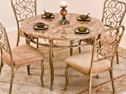 furniture stunning small dining room decoration using round glass