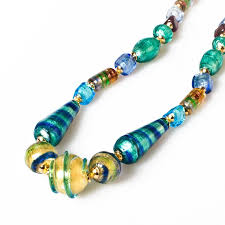 colored bead necklace images Pesaro colorful glass beads necklace jpg