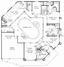 house plans with indoor pool floor plan beautiful single plan indoor floor and middle level