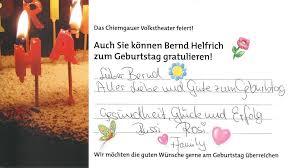 bayerische geburtstagsspr che wir gratulieren zum geburtstag bernd helfrich wird 70