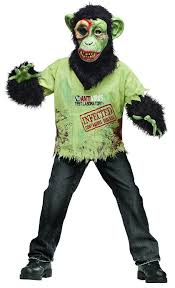zombie boy halloween costume amazon com fun world zombie chimp child costume clothing