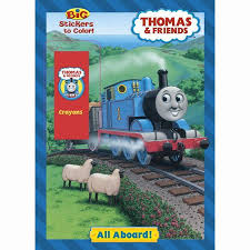 thomas train books aboard coloring book toystop