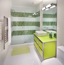 green glass tile bathroom traditional with inset medicine cabinet