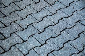 bone shaped cobblestone tiles on the floor in prespective stock