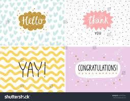 happy cards happy cards set vector templates stock vector 421479163