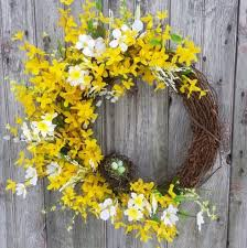 forsythia wreath forsythia daffodil dogwood wreath summer wreath