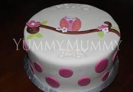 owl baby shower cake yummy mummy