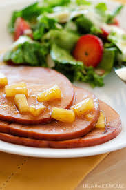 crock pot maple brown sugar ham