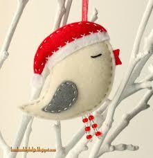 handmade by helga felt birds with santa hats crochet and knit