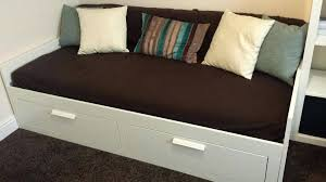 ikea brimnes daybed mattress day bed w 2 drawers 2 mattresses ikea