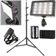 apollo power and light core swx torchled bolt 220w on camera light with power supply