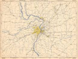Topographic Map Seattle Topographic Map Of St Louis C1950