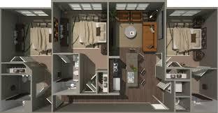 floorplans campus view clemson 2 3 u0026 4 bedroom apartments