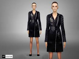 leather trench coat by missfortune at tsr sims 4 nexus