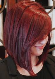 long inverted bob hairstyle with bangs photos vibrant red inverted bob haircut full dose