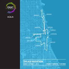 Chicago Map Poster by Personalised Chicago Marathon Poster By Printmetrics