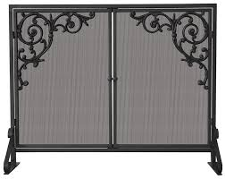 uniflame single panel fireplace screen qdpakq com