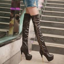 female biker boots with heels new arrival slim women red bottom knee high boots long boots red