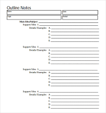 examples of outlines for research papers outline template in pdf