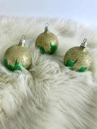 vintage bell ornaments gold bell metallic glass ornaments