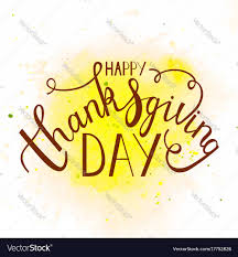 phrase happy thanksgiving day royalty free vector image