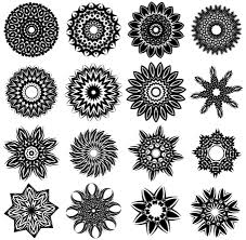 free tribal flower designs vector images clipart me