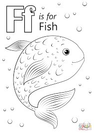 f is for fish coloring page eson me