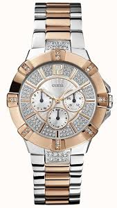 bracelet watches guess images Guess womens two tone steel bracelet watch w0024l1 first class jpg